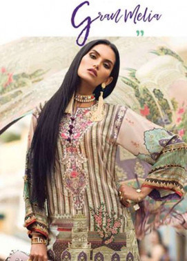 Elan Embroidered Lawn Unstitched 3 Piece Suit EL18L 4B - Spring / Summer Collection