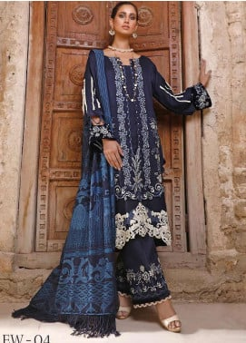 Elaf Embroidered Linen Unstitched 3 Piece Suit EL20W 04 - Winter Collection