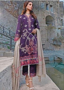 Elaf Embroidered Linen Unstitched 3 Piece Suit EL20W 08 - Winter Collection