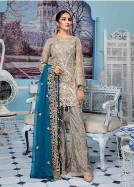 Elaf Embroidered Missouri Unstitched 3 Piece Suit EL19-C4 408 HARBAR GREY - Luxury Collection