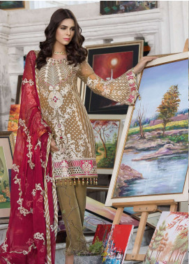 Elaf Embroidered Chiffon Unstitched 3 Piece Suit ELF19C 01 - Luxury Collection