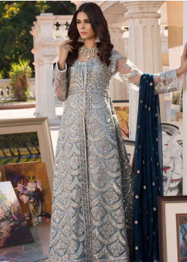 Elaf Embroidered Chiffon Unstitched 3 Piece Suit ELF19C 08 - Luxury Collection