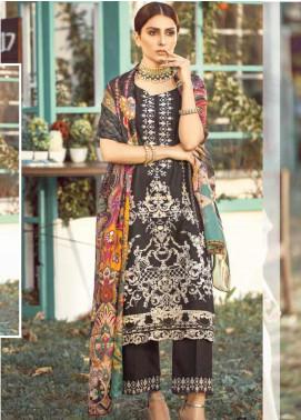 Elaf Embroidered Lawn Unstitched 3 Piece Suit EL20P BLACK 12 - Luxury Collection