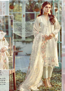 Elaf Embroidered Lawn Unstitched 3 Piece Suit EL20P CREAM 11 - Luxury Collection