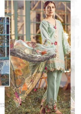 Elaf Embroidered Lawn Unstitched 3 Piece Suit EL20P MINT 03 - Luxury Collection