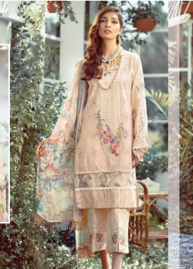 Elaf Embroidered Lawn Unstitched 3 Piece Suit EL20P PEACH 08 - Luxury Collection
