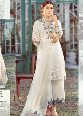 Elaf Embroidered Lawn Unstitched 3 Piece Suit EL20P WHITE 10 - Luxury Collection