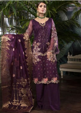 Ornamental by Elaf Embroidered Organza Unstitched 3 Piece Suit EL20PW 05 - Luxury Collection