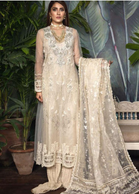Ornamental by Elaf Embroidered Net Unstitched 3 Piece Suit EL20PW 06 - Luxury Collection