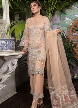 Ornamental by Elaf Embroidered Organza Unstitched 3 Piece Suit EL20PW 07 - Luxury Collection