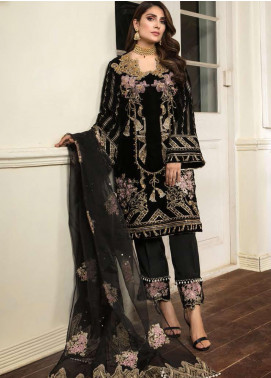 Ornamental by Elaf Embroidered Velvet Unstitched 3 Piece Suit EL20PW 08 - Luxury Collection