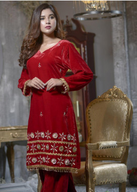 Elaheh Embroidered Velvet Unstitched Kurties ELH19V 3 - Winter Collection