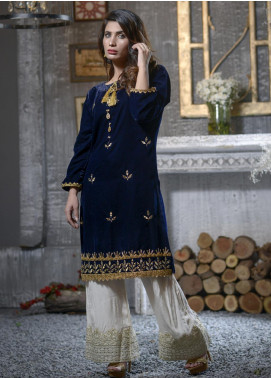 Elaheh Embroidered Velvet Unstitched Kurties ELH19V 4 - Winter Collection