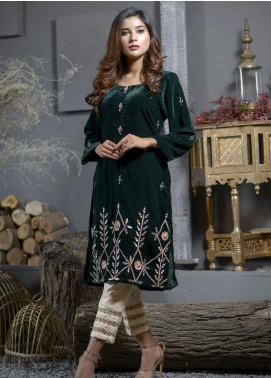 Elaheh Embroidered Velvet Unstitched Kurties ELH19V 5 - Winter Collection