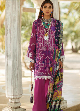 Elan Embroidered Lawn Unstitched 3 Piece Suit EL20L 1-B NYOTA - Spring / Summer Collection