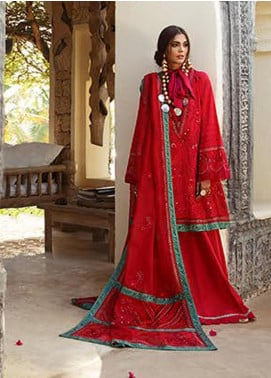 Elan Embroidered Lawn Unstitched 3 Piece Suit EL20L 10-B AMANA - Spring / Summer Collection