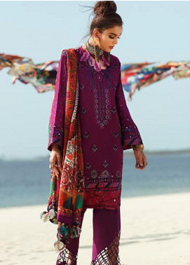 Elan Embroidered Lawn Unstitched 3 Piece Suit EL20L 12-A AMARLI - Spring / Summer Collection