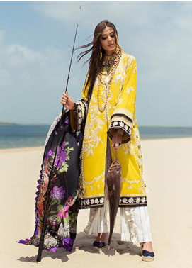 Elan Embroidered Lawn Unstitched 3 Piece Suit EL20L 14-B MOSIYA - Spring / Summer Collection