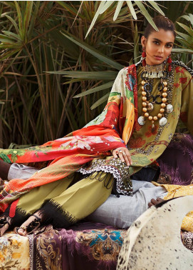 Elan Embroidered Lawn Unstitched 3 Piece Suit EL20L 2-B MSITU - Spring / Summer Collection