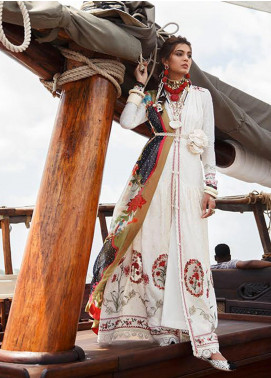 Elan Embroidered Lawn Unstitched 3 Piece Suit EL20L 4-A NALAH - Spring / Summer Collection