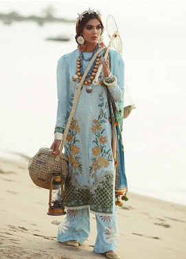 Elan Embroidered Lawn Unstitched 3 Piece Suit EL20L 5-B MARINI - Spring / Summer Collection