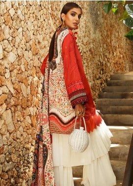 Elan Embroidered Lawn Unstitched 3 Piece Suit EL20L 7-A ZURI - Spring / Summer Collection