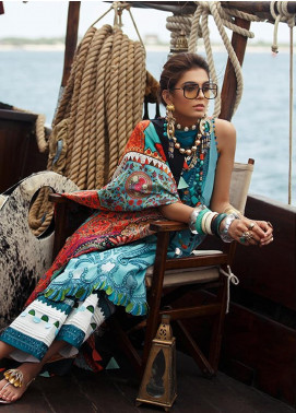 Elan Embroidered Lawn Unstitched 3 Piece Suit EL20L 7-B ZURI - Spring / Summer Collection