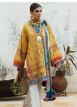 Elan Embroidered Lawn Unstitched 3 Piece Suit EL20L 8-A ZAHARA - Spring / Summer Collection