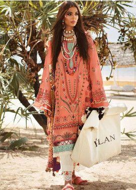 Elan Embroidered Lawn Unstitched 3 Piece Suit EL20L 8-B ZAHARA - Spring / Summer Collection