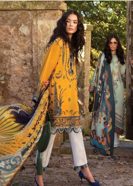 Elan Embroidered Lawn Unstitched 3 Piece Suit EL19L 12B LUJURIA - Spring / Summer Collection