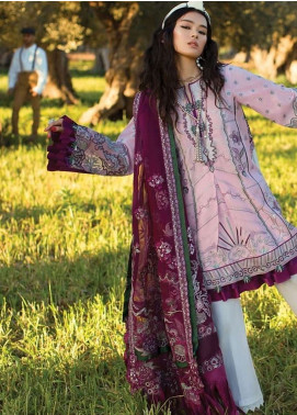 Elan Embroidered Lawn Unstitched 3 Piece Suit EL19L 15A PURPURA - Spring / Summer Collection