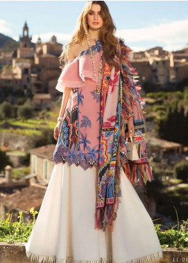 Elan Embroidered Lawn Unstitched 3 Piece Suit EL19L 1B SANGRE - Spring / Summer Collection
