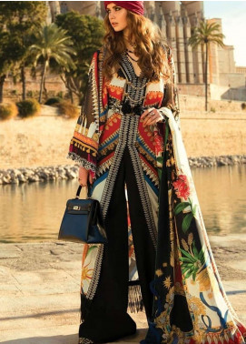 Elan Embroidered Lawn Unstitched 3 Piece Suit EL19L 2A PIRULI - Spring / Summer Collection