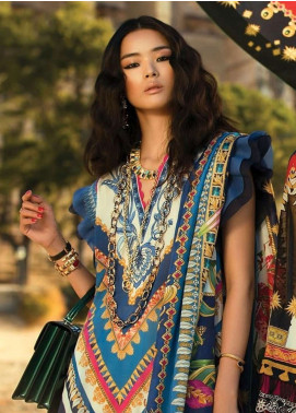 Elan Embroidered Lawn Unstitched 3 Piece Suit EL19L 2B PIRULI - Spring / Summer Collection