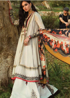 Elan Embroidered Lawn Unstitched 3 Piece Suit EL19L 3B ALMENDRA - Spring / Summer Collection