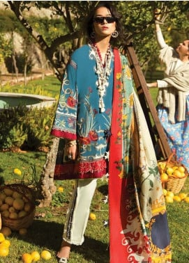 Elan Embroidered Lawn Unstitched 3 Piece Suit EL19L 4B ANORANZA - Spring / Summer Collection