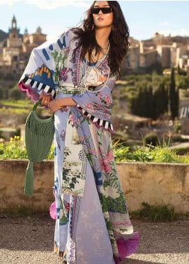 Elan Embroidered Lawn Unstitched 3 Piece Suit EL19L 5B SERENIDAD - Spring / Summer Collection