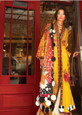 Elan Embroidered Lawn Unstitched 3 Piece Suit EL19L 6A CARICIA - Spring / Summer Collection