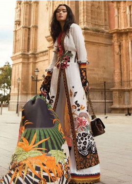 Elan Embroidered Lawn Unstitched 3 Piece Suit EL19L 8A SEIVA - Spring / Summer Collection