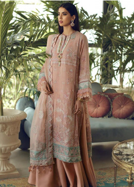 Elan Embroidered Chiffon Unstitched 3 Piece Suit EL19C 01 MUGE - Luxury Collection