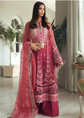 Elan Embroidered Poly Net Unstitched 3 Piece Suit EL19C 02 GUL - Luxury Collection