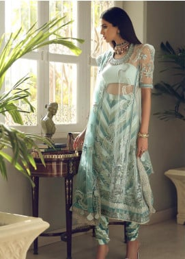Elan Embroidered Poly Net Unstitched 3 Piece Suit EL19C 03 NURIYE - Luxury Collection