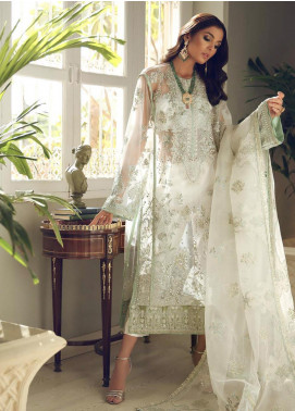 Elan Embroidered Poly Net Unstitched 3 Piece Suit EL19C 04 AYSEL - Luxury Collection