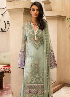 Elan Embroidered Poly Net Unstitched 3 Piece Suit EL19F 05 JANAN - Festive Collection