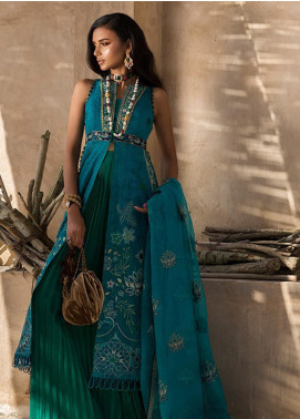 Elan Embroidered Organza Unstitched 3 Piece Suit EL19F 08 KAVEH - Festive Collection