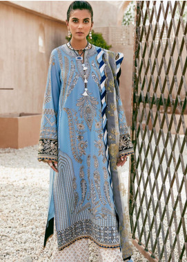Elan Embroidered Lawn Unstitched 3 Piece Suit EL20F 04 AZZURA - Festive Collection