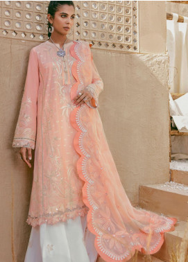 Elan Embroidered Lawn Unstitched 3 Piece Suit EL20F ARUSHI - Festive Collection