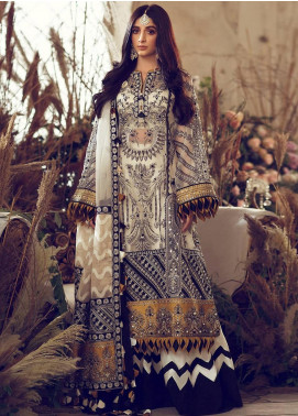 Elan Embroidered Organza Unstitched 3 Piece Suit EL20WF 01 MELIKE - Wedding Collection