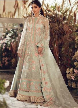 Elan Embroidered Organza Unstitched 3 Piece Suit EL20WF 03 ALARA - Wedding Collection