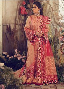 Elan Embroidered Organza Unstitched 3 Piece Suit EL20WF 04 GULYA - Wedding Collection